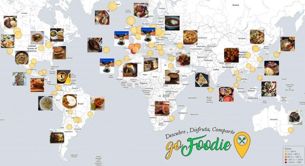 Mapa GoFoodie Internacional