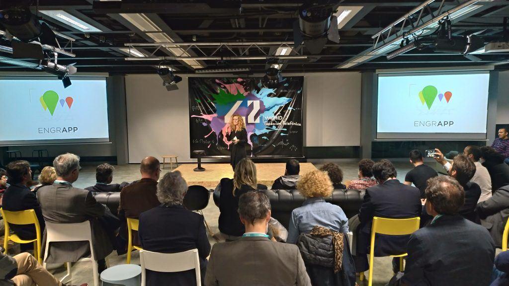 Laura Castela presenta 42Madrid frente a nuestros socios y laureados