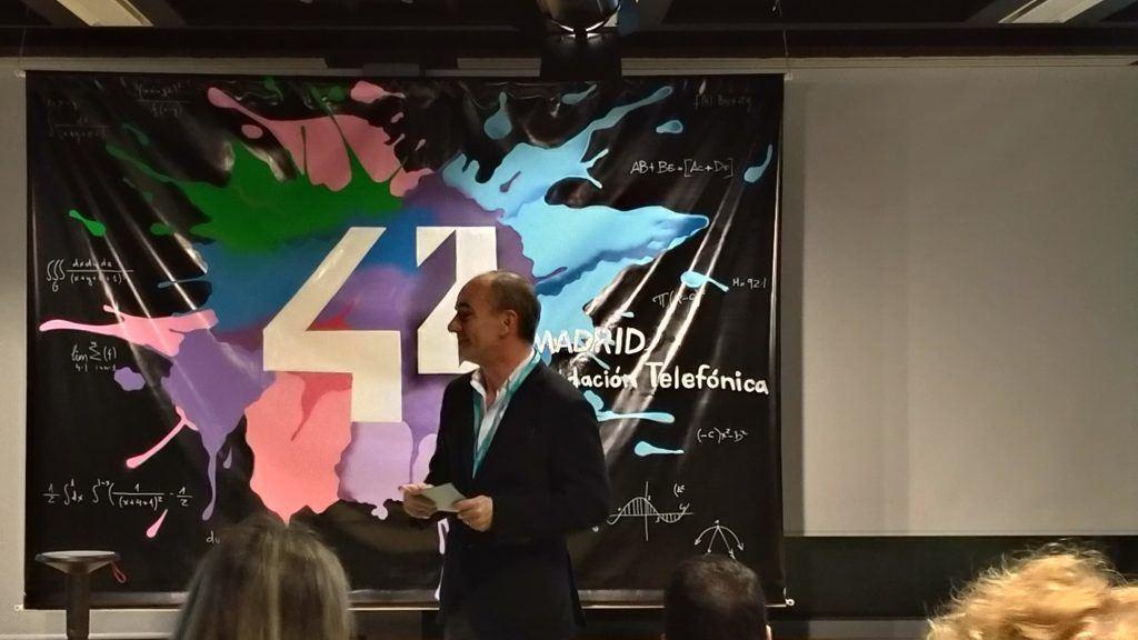 Nuestro presidente Javier de la Morena presenta Netmentora a 42Madrid