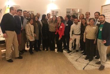 socios y laureados celbrando el acompañamiento Netmentora