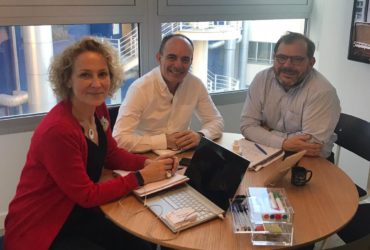 Directora y Presidente con Dominique Sarran, presidente de réseau Entreprendre